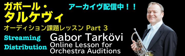[アーカイヴ配信]タルケヴィ オーディション課題レッスンPART3